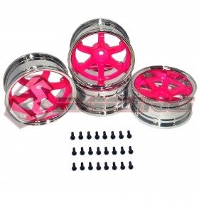 3RACING Sakura D4 T37 6-Spoke Rim _8J-11J _Fluorescent RED - WH-34/FR