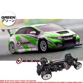 3racing Sakura 1/10 M Chassis 4WD 2018 & TCR Body Set - KIT-M4TCR/GR