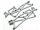 Hot Bodies MiniZilla Chassis SSG Graphite Side Chassis ( 2 Pcs ) For Hot Bodies Minizilla - 3Racing LA-07/SG
