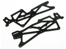 Hot Bodies MiniZilla Chassis Graphite Side Chassis ( 2Pcs ) for Hot Bodies Minizilla - 3Racing LA-07/WO