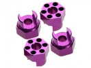 Hot Bodies MiniZilla Chassis Aluminium Hex Adaptor ( 4 Pcs ) For Hot Bodies Minizilla - Purple Color - 3Racing LA-17/PU