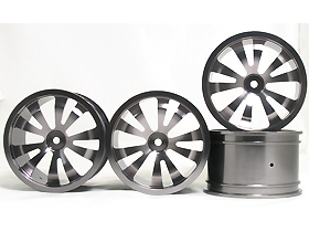 HPI Savage 25 Chassis Aluminum 5 Spoke Dual Rim (2 Pairs) For HPI Savage 21 - 3Racing HSA-022C/T4