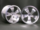 HPI Savage 25 Chassis Aluminum 5 Spoke Rim (1 Pairs) For HPI Savage - Silver Color - 3Racing HSA-022A/S2