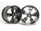 HPI Savage 25 Chassis Aluminum 5 Spoke Rim (1 Pairs) For HPI Savage 21 - 3Racing HSA-022A/T2