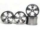 HPI Savage 25 Chassis Aluminum 5 Spoke Rim (2 Pairs) For HPI Savage 21 - 3Racing HSA-022A/T4