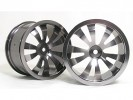HPI Savage 25 Chassis Aluminum 5 Spoke Dual Rim (1 Pairs) For HPI Savage 21 - 3Racing HSA-022C/T2