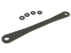 Kyosho FW05-R /FW05RR /V One RRR /V One S /V One SII /V One SIII /V One R /V One RR /V One RRR Evo Rear Graphite Body Post Plate - 3Racing FW05-028