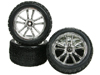 Kyosho LAZER ZX-5 5 Spoke Tyre and Rim Set - Silver Color - 3RACING WH-18/SI