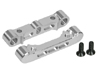Kyosho LAZER ZX-5 Aluminium Front Suspension Mount Set - Silver Color - 3RACING ZX5-02/SI