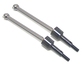 Kyosho Mini Inferno Front Swing Shaft( 1 pairs ) - Titanium Color Half8 - 3RACING MIF-021/TI