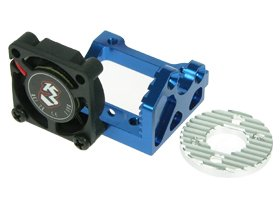 Kyosho Mini Inferno /Kyosho Mini Inferno ST Aluminium Motor Mount /W Cooling Fan - Blue Color - 3Racing MIF-ST04/BU