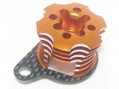 Kyosho Mini Inferno Speed Control Engine Heatsink - Orange/Woven- 3Racing MIF-020/OR/WO