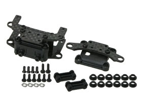 Kyosho Mini-Z AWD Graphite Front & Rear Gear Box - 3RACING AWD-40/WO