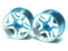 Kyosho Mini-Z MR-02 (MM) /Kyosho Mini-Z MR-02 (RM) /Kyosho Mini-Z MR-015 Aluminum Front Rim 5 Spoke 2 Tones+3.5 Offset - Light Blue Color - 3Racing MR02-FP35/LB