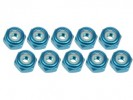 Kyosho Mini-Z MR-02 (RM) 2mm Aluminum Lock Nuts (10 Pcs) - Light Blue - 3Racing 3RAC-N20/LB