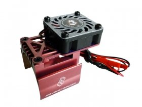 3RACING Extended Motor Heat Sink W/High Speed For 540 Motor (High Finger) - Red - 3RAC-MHS7/RE/V3