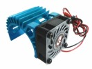 3RACING Motor Heat Sink W/ Fan Ver.3 For 540 Motor (Fan-Shaped) - Light Blue - 3RAC-MHS5/LB/V3
