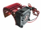 3RACING Engine Heat Sink Motor Heat Sink W/ Fan Ver.2 For 540 Motor (Fan-Shaped) - Red - 3RAC-MHS5/RE/V2