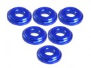 3RACING Aluminium Shock Tower Shim (6pcs) - Blue - 3RAC-WFS820/BU