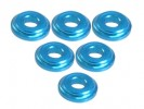 3RACING Aluminium Shock Tower Shim (6pcs) - LIght Blue - 3RAC-WFS820/LB