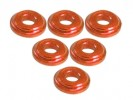 3RACING Aluminium Shock Tower Shim (6pcs) - Orange - 3RAC-WFS820/OR