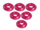 3RACING Aluminium Shock Tower Shim (6pcs) - Red - 3RAC-WFS820/RE
