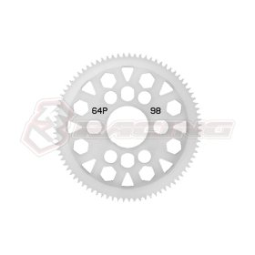 3RACING 64 Pitch Spur Gear 98T Ver.2 - 3RAC-SG6498/V2