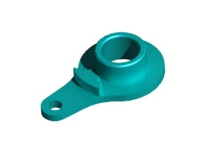 3RACING Aluminium Servo Arm Servo Saver Horn-single Hole- Light Blue H=18mm For Tamiya - 3RAC-HTS3018/LB
