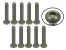 3RACING #4-40 x 5/8 Titanium Button Head Hex Socket - Machine (10 Pcs) - TS-BS4580M