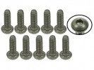 3RACING M2 x 6 Titanium Button Head Hex Socket - Self Tapping (10 Pcs) - TS-BSM206S
