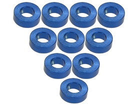 3RACING Aluminium M3 Flat Washer 2.0mm (10 Pcs) - Blue - 3RAC-WF320/BU