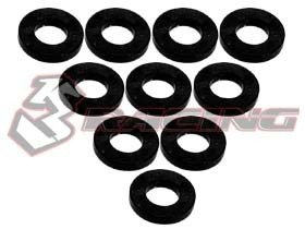 3RACING Aluminium M3 Flat Washer 1.0mm (10 Pcs) - Black - 3RAC-WF310/BK