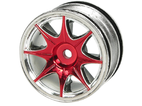 Tamiya FF02 /M03 /M03L /M03M /M04L /M04M 1/10 8 Spoke Wheel On Road (0 Offset - 24mm) - Silver Color - 3Racing WH-04/SI
