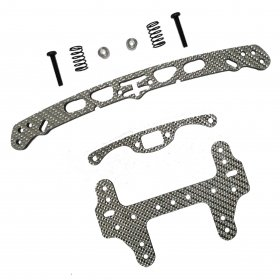 Tamiya Mini 4WD Sliver Carbon Wide Rear Swing Roller Plate - 3RACING M4WD-51/SG