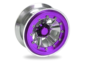 Team Losi 8IGHT 2.2 Inch Narrow Crawler Rim Set - Mesh (4pcs) - Purple - 3Racing WH-31/PU