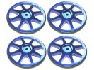 3RACING Setup Wheels (4 Pcs) - Blue - ST-001/BU4