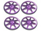 3RACING Setup Wheels (4 Pcs) - Purple - ST-001/PU4
