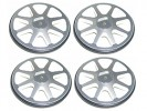 3RACING Setup Wheels (4 Pcs) - Silver - ST-001/SI4