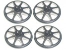 3RACING Setup Wheels (4 Pcs) - Titanium - ST-001/TI4
