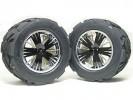 Traxxas Revo HPI Savage 21 /HPI Savage 25 /Traxxas Revo Ton Wheel & Tyre Set 40 Series - Wide Offset ( 1 Pairs ) - Black Color - 3RACING RE-043A/BL2
