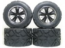 Traxxas Revo HPI Savage 25 /Traxxas Revo Ton Wheel & Tyre Set 40 Series - Wide Offset ( 2 Pairs ) - Black Color - 3RACING RE-043A/BL4