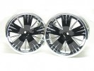 Traxxas Revo HPI Savage 21 /HPI Savage 25 /Traxxas Revo Ton Wheel 40 Series - Wide Offset ( 1 Pairs ) - Black Color - 3RACING RE-043/BL2