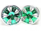 Traxxas Revo HPI Savage 21 /HPI Savage 25 /Traxxas Revo Ton Wheel 40 Series - Wide Offset ( 1 Pairs ) - Green Color - 3RACING RE-043/G2