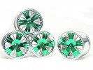 Traxxas Revo HPI Savage 21 /HPI Savage 25 /Traxxas Revo Ton Wheel 40 Series - Wide Offset ( 2 Pairs ) - Green Color - 3RACING RE-043/G4