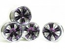 Traxxas Revo HPI Savage 21 /HPI Savage 25 /Traxxas Revo Ton Wheel 40 Series - Wide Offset ( 2 Pairs ) - Purple Color - 3RACING RE-043/P4
