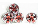 Traxxas Revo HPI Savage 21 /HPI Savage 25 /Traxxas Revo Ton Wheel 40 Series - Wide Offset ( 2 Pairs ) - Red Color - 3RACING RE-043/R4