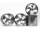 Traxxas Revo HPI Savage 21 /HPI Savage 25 /Traxxas Revo Aluminum Twister Wheel 40 Series - Wide Offset ( 2 Pairs ) - Titanium Color - 3RACING RE-059A/T4