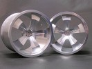 Traxxas Revo HPI Savage 21 /HPI Savage 25 /Traxxas Revo Aluminum 5 Spoke Wheel 40 Series - Wide Offset ( 1 Pairs ) - Silver Color - 3RACING RE-059B/S2